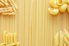 Detail of Macaroni pasta useful as a background Stock Photos