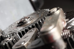 Detail of machine with gears Royalty Free Stock Image