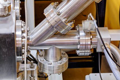 Detail of machinery in physics laboratory Royalty Free Stock Images