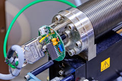 Detail of machinery in physics laboratory Stock Image