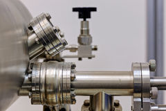 Detail of machinery in physics laboratory Stock Photo