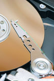 Detail of a magnetic computer hard disk Stock Image