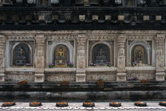 Detail of Mahabodhi temple in Bodhgaya Royalty Free Stock Images