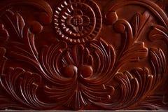 Detail of a mahagony cupboard Stock Photo
