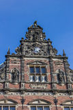 Detail of the main building of the Groningen University Royalty Free Stock Images