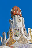 Detail of main entrance building at Parc Guell, Stock Photography