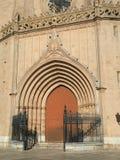 Detail of the main entrance of a church stock photos
