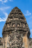 Detail on Main Stone Castle of Phimai Historical Park Royalty Free Stock Image