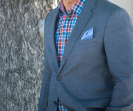 Detail Of Male Fashion Jacket Royalty Free Stock Images