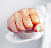 Detail of male fist Stock Photos