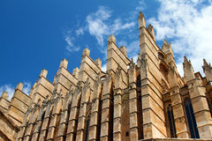 Detail of Mallorca cathedral in Palma Royalty Free Stock Image