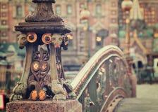 Detail of Malo-Koniushennyi bridge. In Saint Petersburg. Russia Royalty Free Stock Images