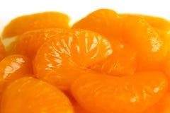 Detail of mandarin segments. Royalty Free Stock Photo
