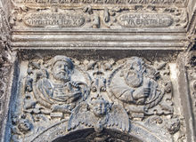 Detail of mannerist architecture Stock Photos