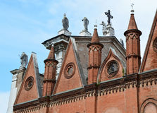 Detail of Mantua Cathedral dedicated to Saint Peter, Mantua, Italy Stock Photo