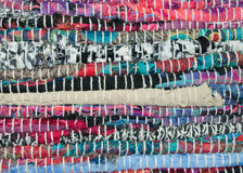 Detail of many colors rag rug Stock Image