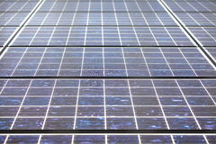 Detail of many solar panels Royalty Free Stock Image