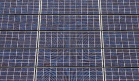 Detail of many solar panels Stock Images
