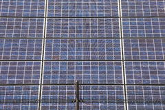Detail of many solar panels Royalty Free Stock Images