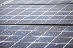 Detail of many solar panels Royalty Free Stock Image