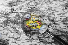 The detail of the Map of Romania Royalty Free Stock Photography