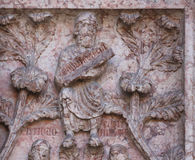 Detail of marble carvings on the Baptistery, Parma Royalty Free Stock Photo