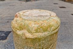 Marble pillar remains detail Stock Photography