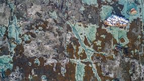 Detail of marble quarry in Aliki. Royalty Free Stock Image