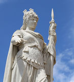 Detail of marble Statue of Liberty with lance in San Marino Stock Photo