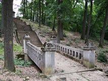 Stone bridge. Detail of Maria Radna Franciscan Monastery - Romania Royalty Free Stock Photography