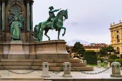 Detail of Maria Theresa monument, Vienna, Austria Stock Photography