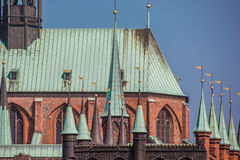 Detail of the Marienkirche in Lubeck. Germany Royalty Free Stock Photography