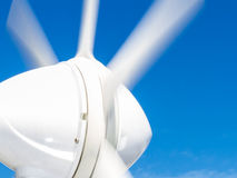 Detail of marine wind generator on boat Stock Images