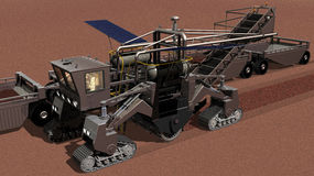 Detail of Mars Surface Mining Vehicle Stock Photography