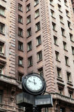 Detail of Martinelli building with clock Royalty Free Stock Images