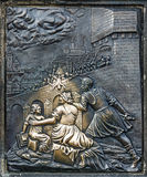 Detail from martyrium of st. john, Charles bridge in Prague Stock Photos