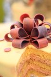 Detail of marzipan cake Stock Images