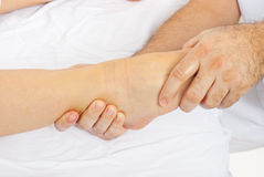 Detail of massage foot Stock Photography