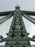 Detail of a mast on Liberty bridge in Budapest stock image