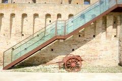 Detail of Mastio cilindrico della Rocca Castle Stock Image