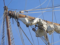 Detail masts and rope Royalty Free Stock Photos