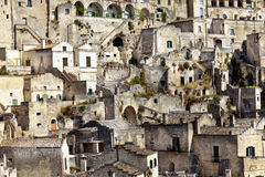 Detail of Matera village (Basilicata,Italy) Royalty Free Stock Photos