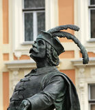 Detail from Matthias Rex Statue Stock Photography