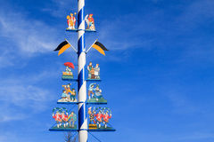 Detail of a Maypole in Munich royalty free stock image