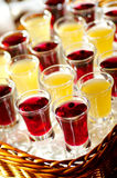 Detail of mead and blueberry brandy. 1 Stock Photography