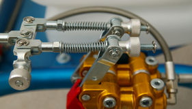 Detail of mechanical parts. Of competition kart Stock Photography