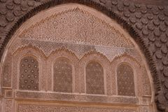 Detail of Medersa Ben Youssef Stock Photography