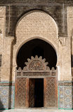 Detail of Medersa Bou Inania in Fes, Morocco Royalty Free Stock Image