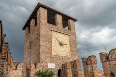 Medieval castle in Verona Royalty Free Stock Photography