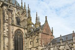 Detail medieval Dom Cathedral of Dutch city Utrecht Royalty Free Stock Image